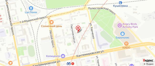 Карта расположения пункта доставки Санкт-Петербург Капитана Воронина в городе Санкт-Петербург