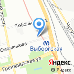 Женовия на карте Санкт-Петербурга