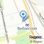 Тили-Тесто на карте Санкт-Петербурга