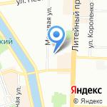 Линия Жизни на карте Санкт-Петербурга