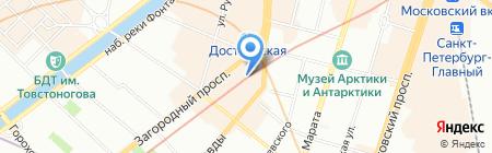 Альфа-Хаус на карте Санкт-Петербурга