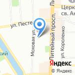 Петербургская коммуникационная компания на карте Санкт-Петербурга