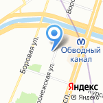 Конфекцион на карте Санкт-Петербурга