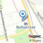 Киоск по продаже печатной продукции на карте Санкт-Петербурга