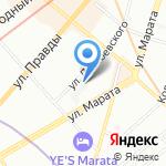 Строй на карте Санкт-Петербурга