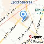 Когнитор на карте Санкт-Петербурга