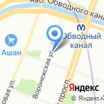 Рюмка на карте Санкт-Петербурга