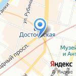 Мастеръ на карте Санкт-Петербурга
