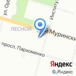 ЗАГС Выборгского района на карте Санкт-Петербурга