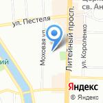 Российский государственный институт сценических искусств на карте Санкт-Петербурга