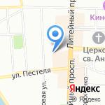 МакЛав на карте Санкт-Петербурга