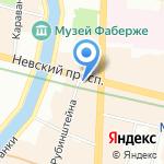 Nevskyi-hostel на карте Санкт-Петербурга