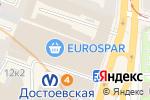 Схема проезда до компании Yota в Санкт-Петербурге