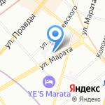 Зоомир на карте Санкт-Петербурга