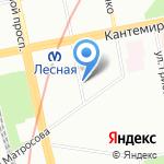 Белорусский дворик на карте Санкт-Петербурга