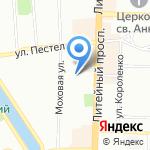 Точка опоры на карте Санкт-Петербурга