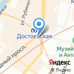 МЕГАТУР на карте Санкт-Петербурга