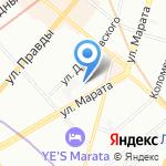 Денти на карте Санкт-Петербурга