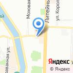 Цветомания на карте Санкт-Петербурга