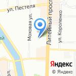 LUX на карте Санкт-Петербурга