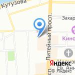 Амрита на карте Санкт-Петербурга
