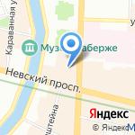 Adagio на карте Санкт-Петербурга