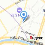 Кафе-хинкальная на карте Санкт-Петербурга