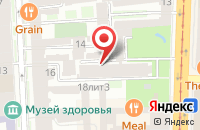 Схема проезда до компании Сфинкс в Санкт-Петербурге