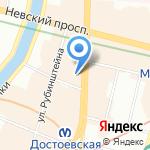 Golden Garden Boutique Hotel на карте Санкт-Петербурга