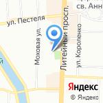 Ленинградский областной онкологический диспансер на карте Санкт-Петербурга