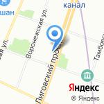 Библиотека им. С.А. Есенина на карте Санкт-Петербурга