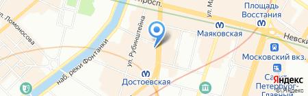 Земная Ось на карте Санкт-Петербурга