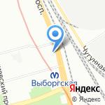 Магазин диетического питания на карте Санкт-Петербурга