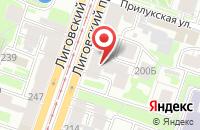 Схема проезда до компании Принтомания в Санкт-Петербурге