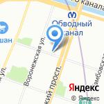 Овощной магазин на карте Санкт-Петербурга