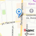 Магазин одежды и текстиля на карте Санкт-Петербурга