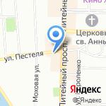 Магазин трикотажа и товаров для дома на карте Санкт-Петербурга
