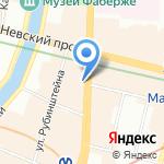 Антик на карте Санкт-Петербурга