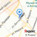 Грифон на карте Санкт-Петербурга
