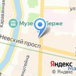 Петрополитана Тур на карте Санкт-Петербурга
