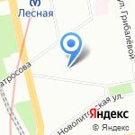 Зелёный берег на карте Санкт-Петербурга