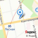 Минутка на карте Санкт-Петербурга