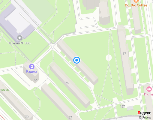 Жилищно-строительный кооператив «ЖСК №19» на карте Санкт-Петербурга