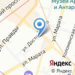 Сытный дворик на карте Санкт-Петербурга