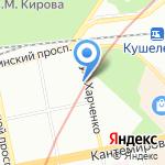 Харлен на карте Санкт-Петербурга