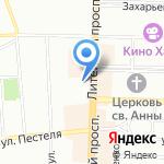 Клюква на карте Санкт-Петербурга