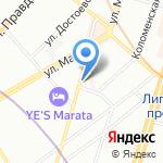 ИЛЮЗАРА на карте Санкт-Петербурга