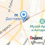 КВАТРА на карте Санкт-Петербурга