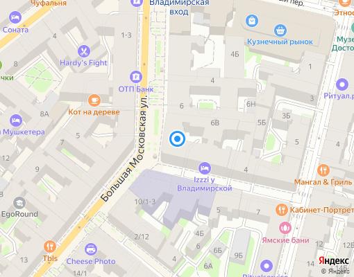 Товарищество собственников жилья «Комфорт» на карте Санкт-Петербурга