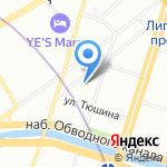 1000 кадров на карте Санкт-Петербурга